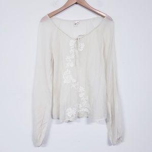 Joie Boho Silk Blend Blouse